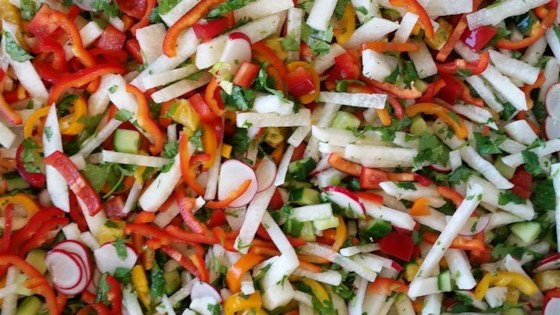 Photo of Refreshing Sweet and Spicy Jicama Salad (Vegan) by Lindsey Pfeiffer