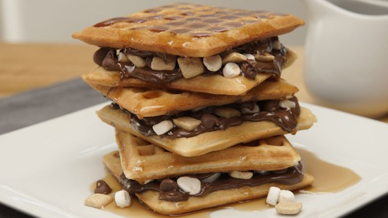 Photo of Over-the-Top S'mores Waffles by HERSHEY'S Kitchens