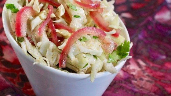 Pickled Onion and Cilantro Coleslaw for Pulled Pork