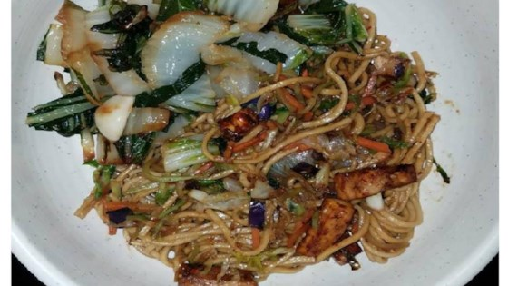 Photo of Vegan Lo Mein with Korean Tofu Bulgogi by Crystal Lynn