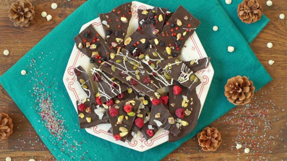 Photo of Christmas Chocolate Bark 3 Ways: Pistachio, Raspberry, and Coconut Bark by Diana Moutsopoulos