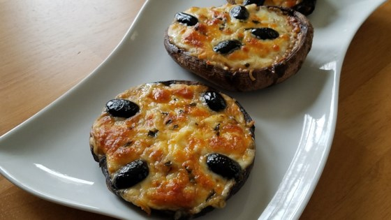 Photo of Pizza-Style Portabello Mushrooms by Adina Ryan