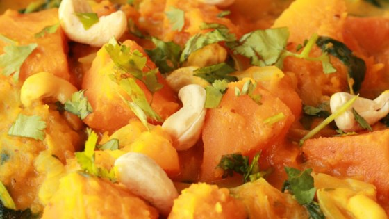Easy indian style pumpkin curry recipe allrecipes photo of easy indian style pumpkin curry by asha n basu forumfinder Images