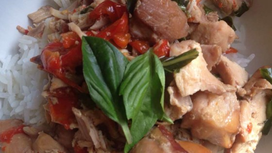 Photo of Easy Slow Cooker Thai Chicken with Basil by gfDiva