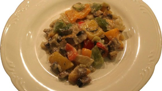 Photo of Bell Pepper Gratin with Fennel and Portobello Mushrooms by Chef AidF