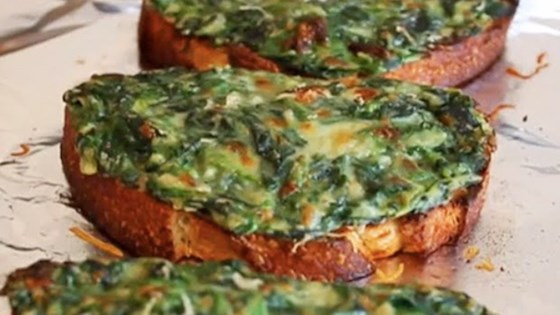 Photo of Chef John's Simple Spinach Toasts by Chef John