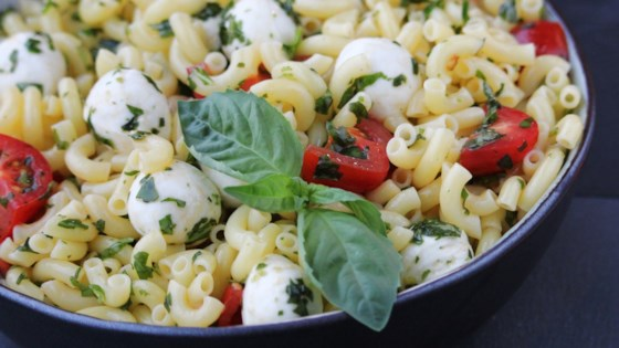 Photo of Pesto Pasta Caprese Salad by thedailygourmet