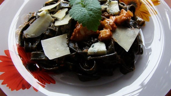 Photo of Black Pasta in a Pink Gorgonzola Sauce by Clyde Thomas