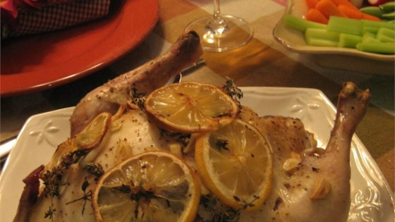 Photo of Moist Garlic Roasted Chicken by Helen H