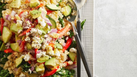 Kale Quinoa And Avocado Salad With Lemon Dijon
