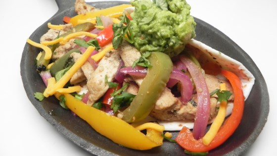 Chicken Fajitas With Colored Peppers