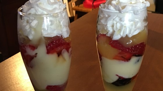 Photo of Lemon and Raspberry Trifle in Mason Jars by VVVVV