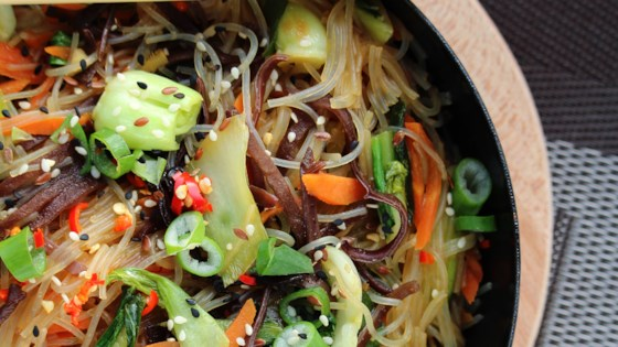 Photo of Vegan Japchae Korean Noodles by Melissa