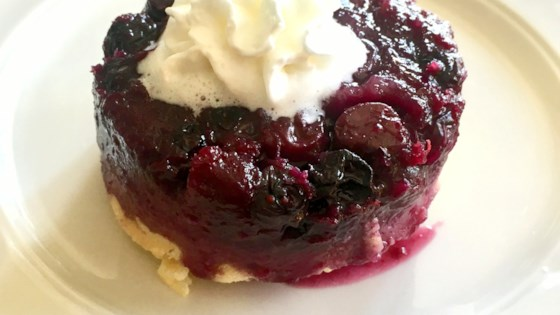 Photo of Blueberry Upside-Down Mini Cakes by Kim