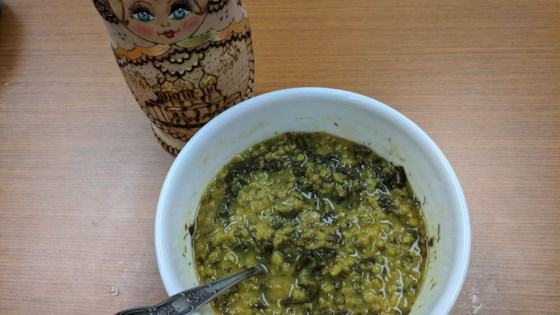 Photo of Fragrant Red Lentil and Rainbow Chard Soup by Carolyn LaLumiere Miller