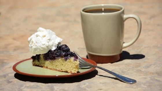 Photo of Blueberry Cornmeal Upside-Down Cake by Vista Verde Ranch