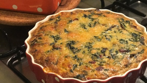 Photo of Belle and Chron's Spinach and Mushroom Quiche by Justin Chron