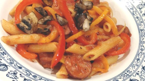 Sausage And Pepper Penne Recipe Allrecipes Com