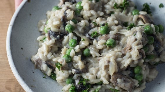 Photo of Easy Creamy Vegan Mushroom Risotto by nutriciously