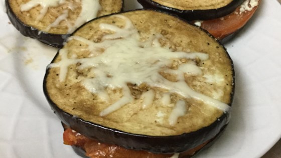 Photo of Grilled Eggplant, Tomato and Goat Cheese by Bubba's Mom