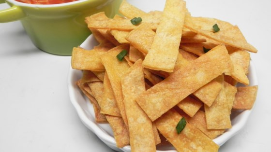 Baked Corn Tortilla Strips for Mexican Soups