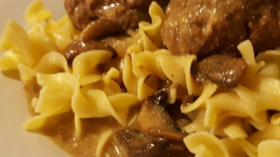 Photo of Beef Stroganoff Sauce with Meatballs by sb