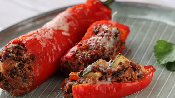Photo of Stuffed Red Peppers with Quinoa, Mushrooms, and Turkey by Jane
