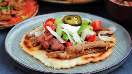 Photo of Fry Bread Tacos with Spicy Shredded Beef by hwiggins