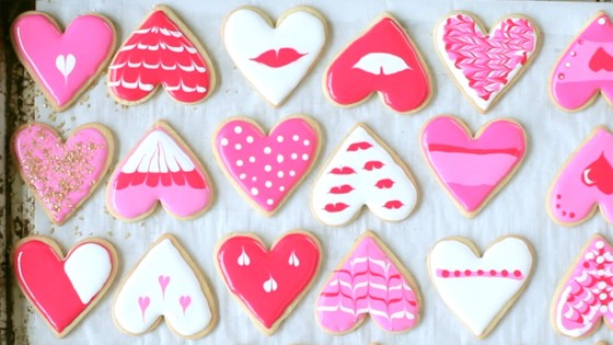 Photo of Heart Cookies Decorated with Royal Icing by Magda