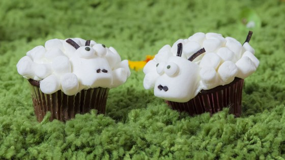 Photo of Easter Lamb Cupcakes  by kristen