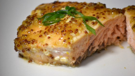 Awesome Honey-Mustard Simple Salmon