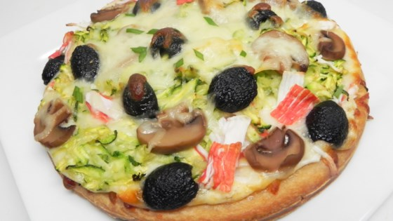 Photo of Savory Seafood Pizza by Cindy