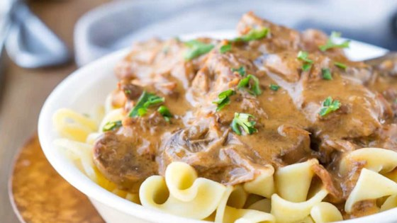 Photo of Creamy Slow Cooker Beef Stroganoff  by Shamrock Farms