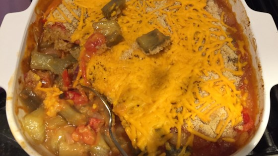 Photo of Cheesy Vegetable Casserole with Eggplant by woodpqrstu