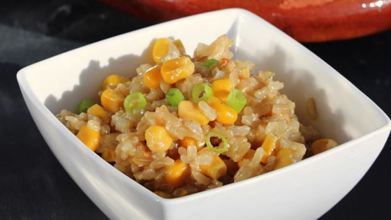 Photo of Brown Rice Pilaf with Onions and Corn by JBLEVY
