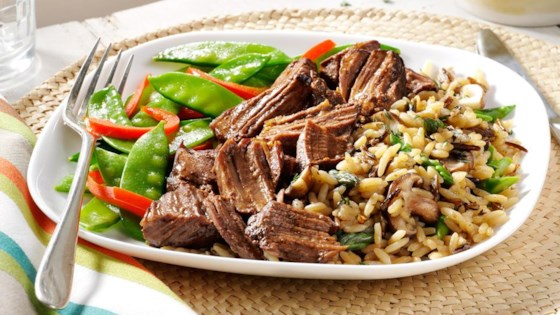 Photo of Beef with Spring Vegetables and Mushroom-Asparagus Rice by Uncle Ben's
