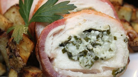 Photo of Gorgonzola Stuffed Chicken Breasts Wrapped in Bacon by witchywoman
