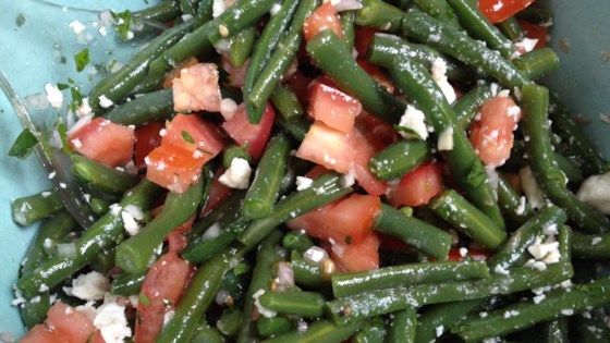 Photo of Greek Green Bean Salad with Feta and Tomatoes by Gundi