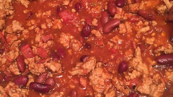 Photo of Bacon Cider Chili by Sweet Melissa