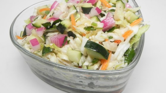 Photo of Tangy Cucumber Slaw for Tacos by Smallfry