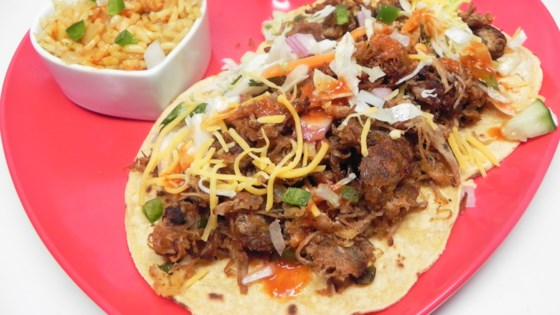 Photo of Shredded Pork Fajita Tacos by coopfor3