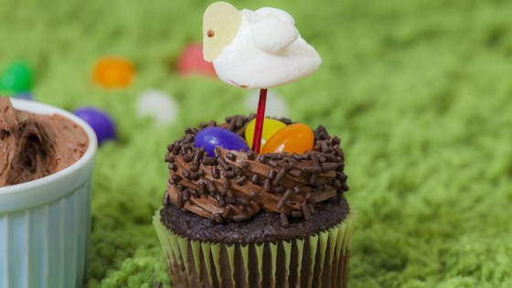 Photo of Easter Bird Nest Cupcakes by mumofsix