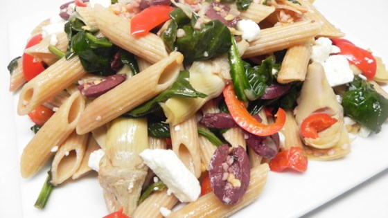 Photo of Mediterranean Whole Wheat Pasta Toss by jlynvjodie