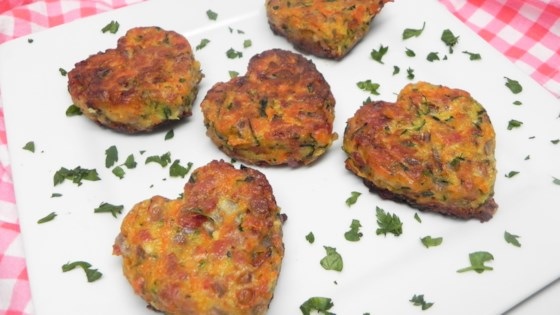 Zucchini Carrot Patties with Bacon