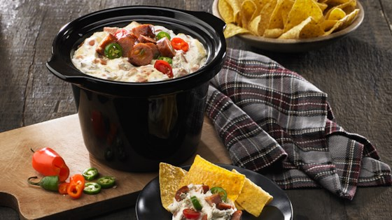 Photo of Queso Blanco and Black Bean Slow Cooker Dip by From the Kitchen at Johnsonville Sausage