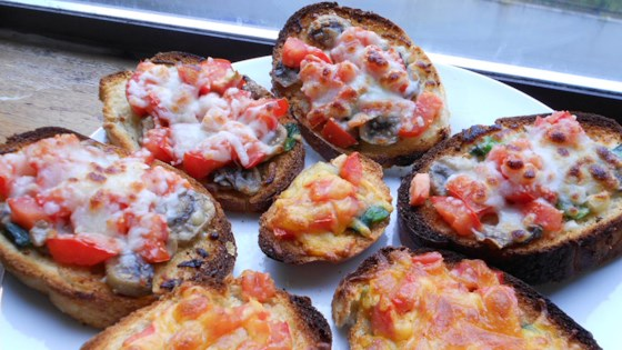 Photo of Mushroom and Tomato Bruschetta by Delray