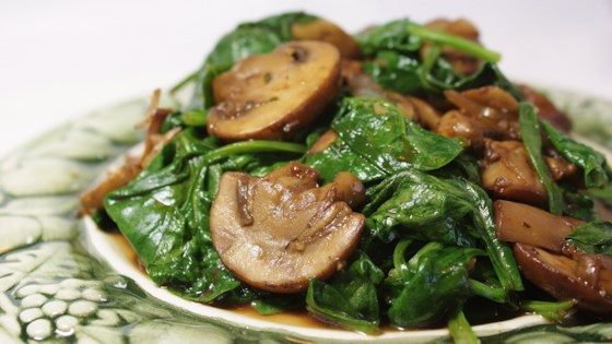 Mushrooms and Spinach Italian Style Recipe