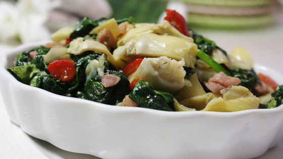 Photo of Colorful Spinach and Prosciutto Side by KeriLee