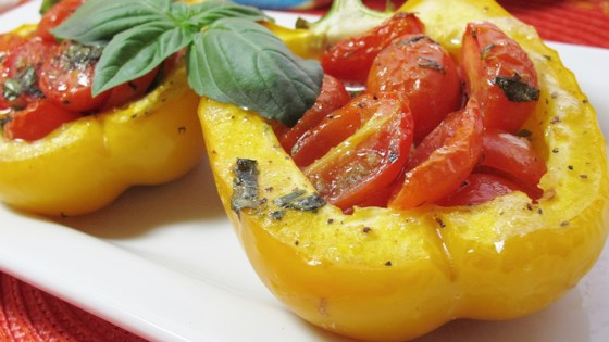 Photo of Peppers Roasted with Garlic, Basil and Tomatoes by amanda1432