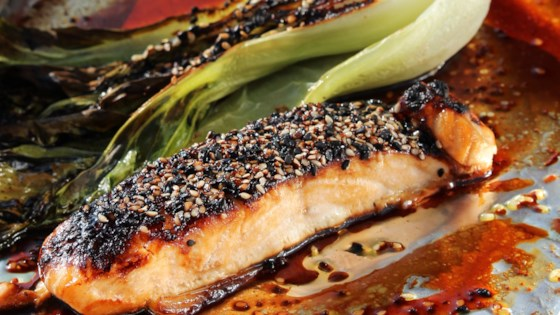 Photo of Miso-Glazed Salmon and Bok Choy by fiedlerbrews
